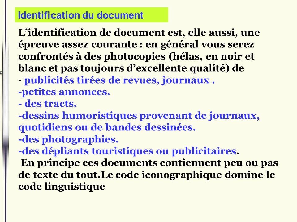 Identification du document