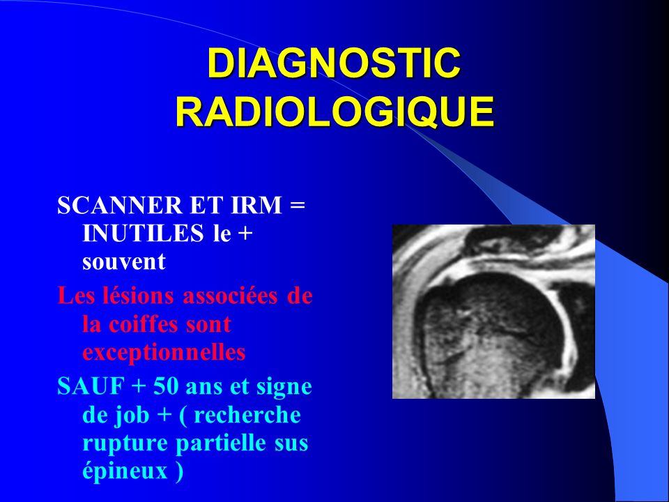DIAGNOSTIC RADIOLOGIQUE