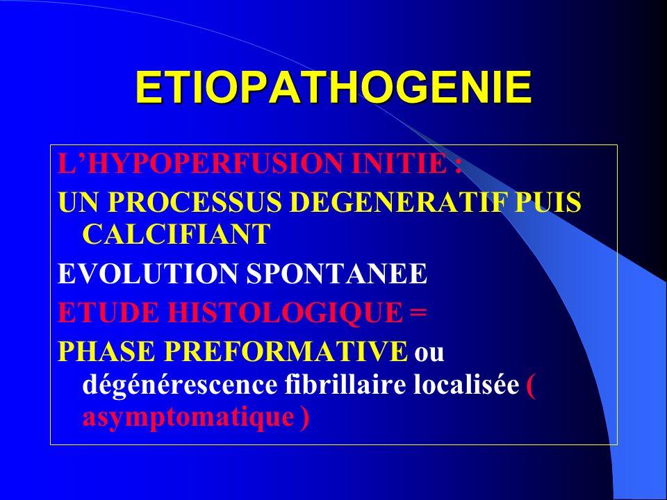 ETIOPATHOGENIE L'HYPOPERFUSION INITIE :