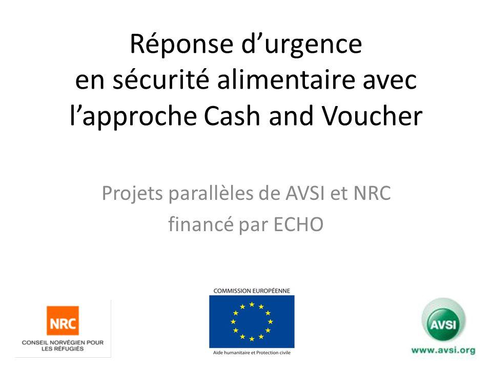 Projets parallèles de AVSI et NRC financé par ECHO