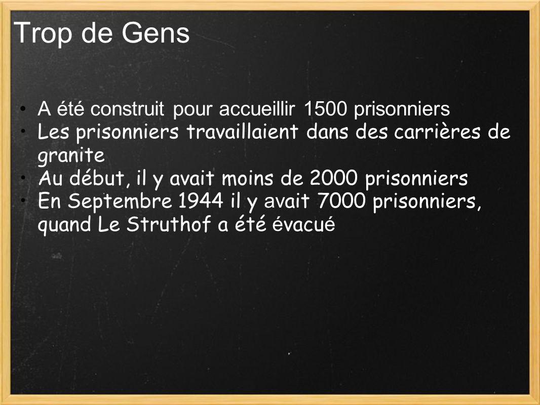 Trop de Gens A été construit pour accueillir 1500 prisonniers