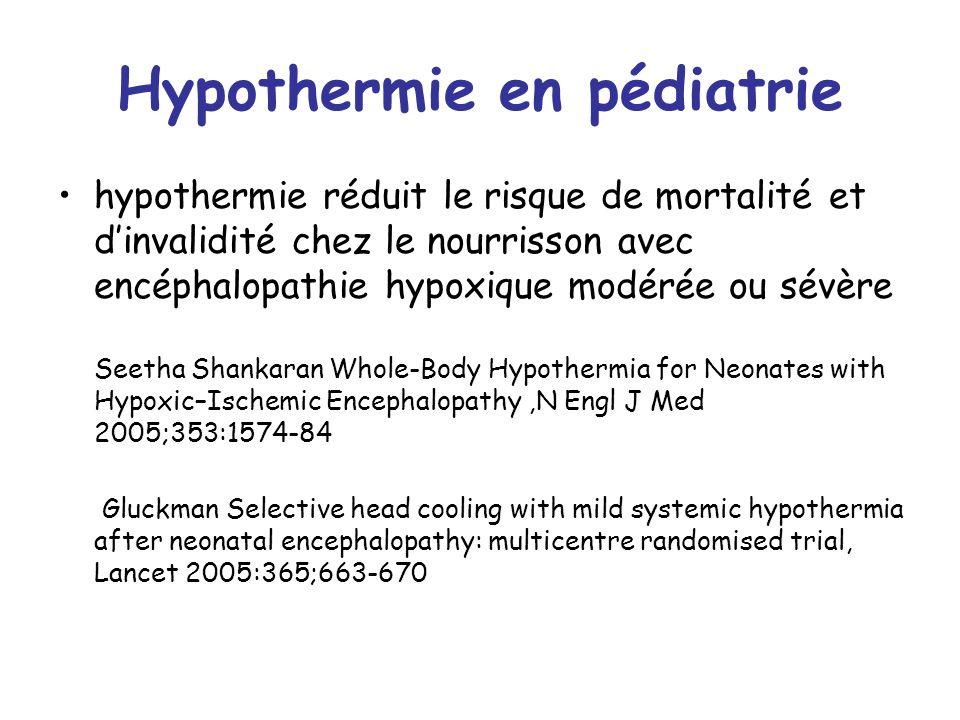Hypothermie en pédiatrie