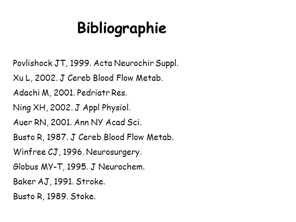 Bibliographie Povlishock JT, 1999. Acta Neurochir Suppl.