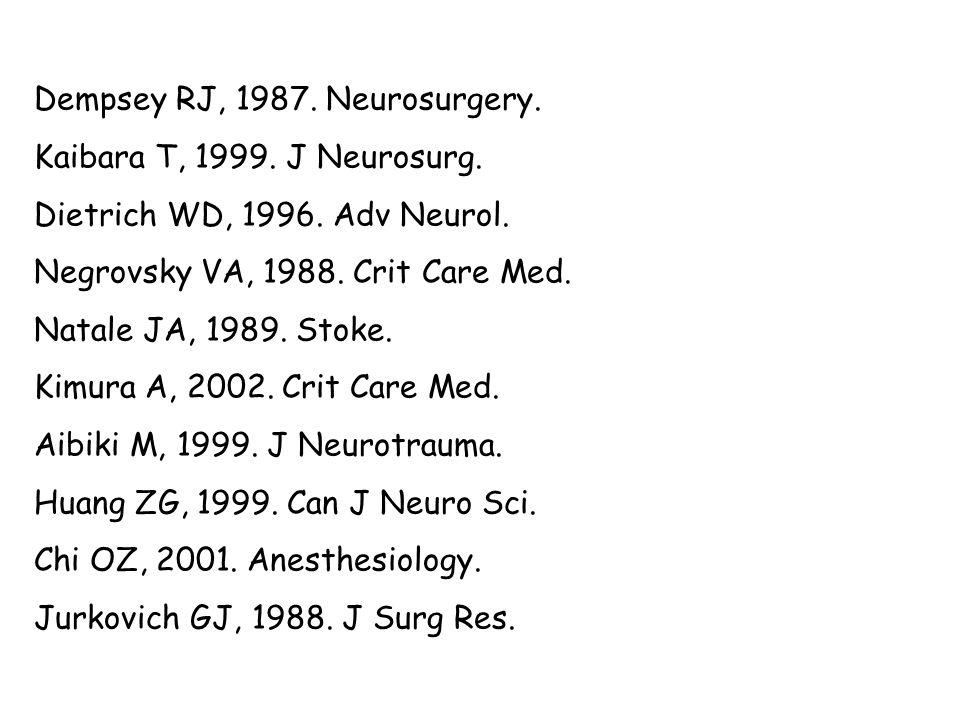 Dempsey RJ, 1987. Neurosurgery.