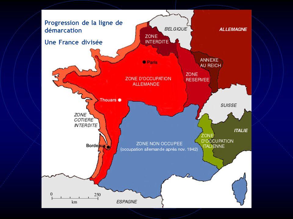 Progression de la ligne de démarcation Une France divisée