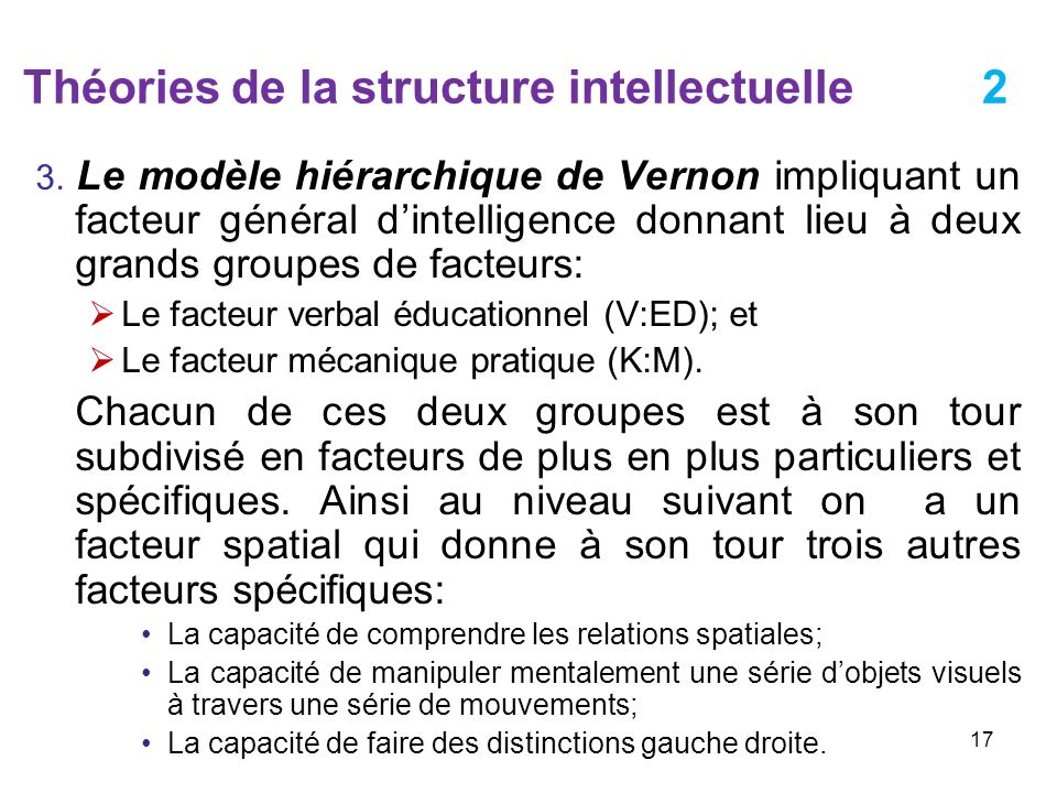 Théories de la structure intellectuelle 2