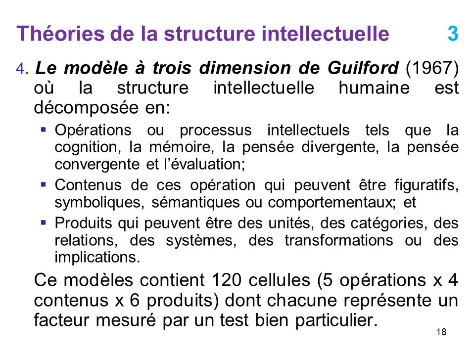 Théories de la structure intellectuelle 3