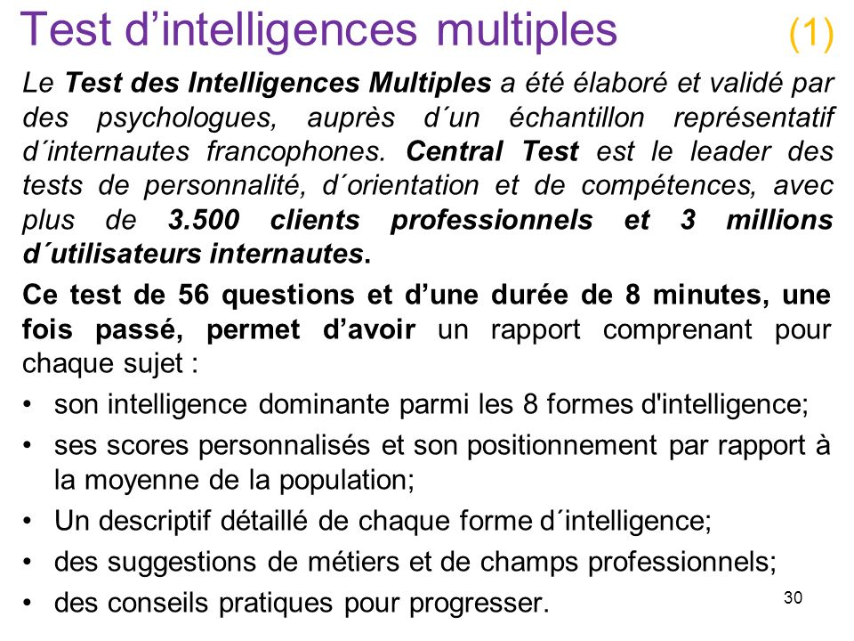 Test d'intelligences multiples (1)