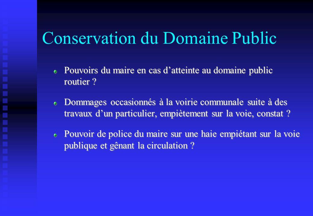 Conservation du Domaine Public