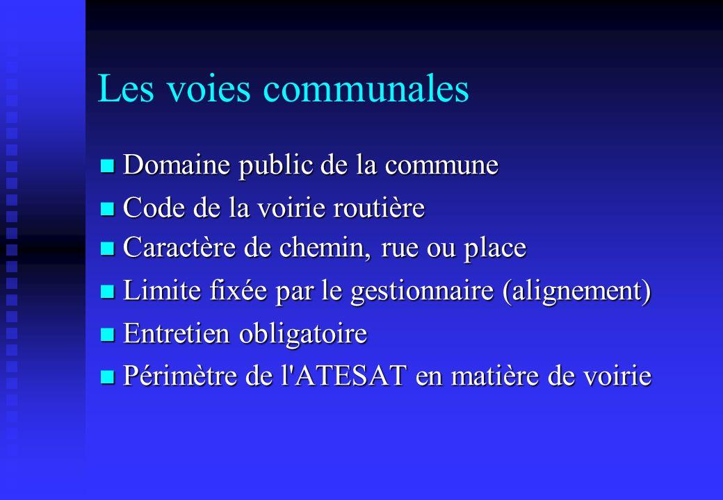 Les voies communales Domaine public de la commune