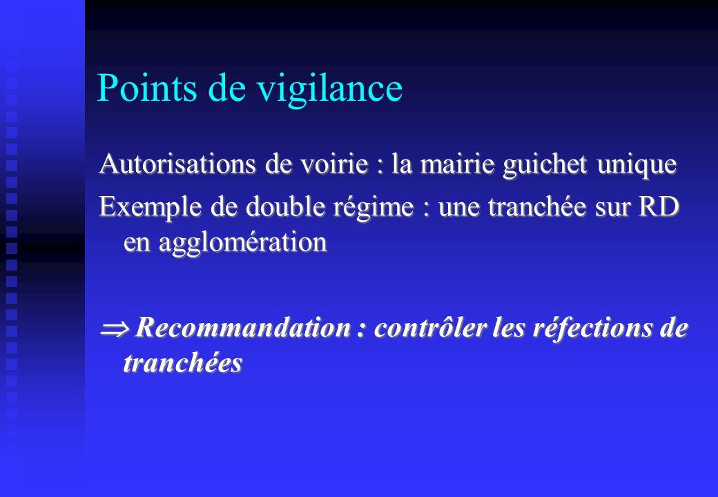 Points de vigilance Autorisations de voirie : la mairie guichet unique