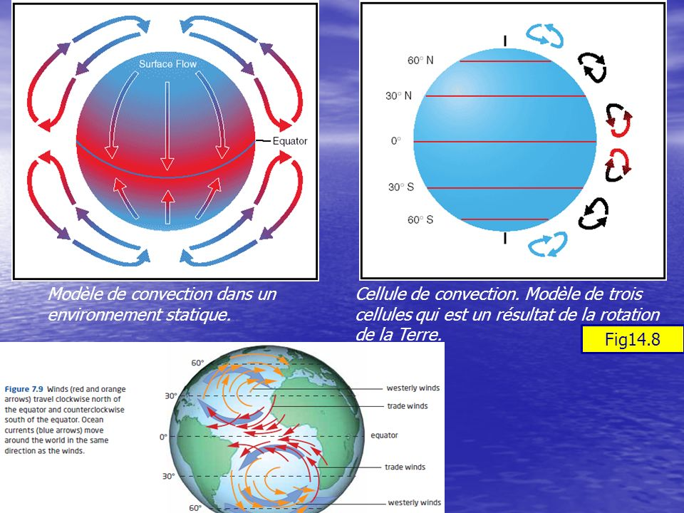 Modèle de convection dans un environnement statique.