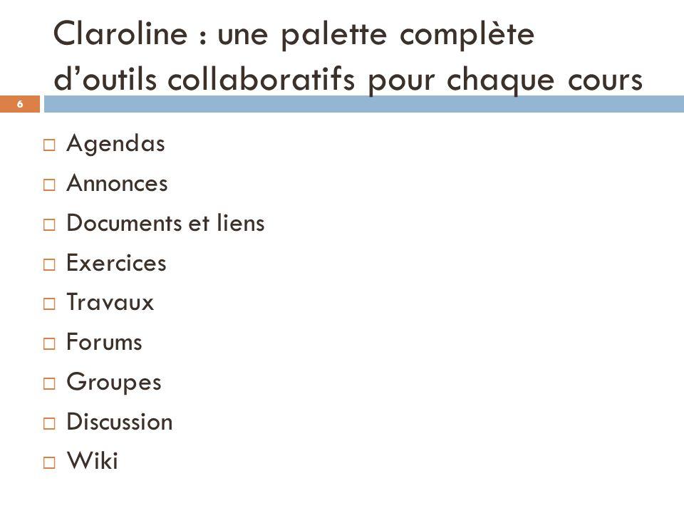 Claroline : une palette complète d'outils collaboratifs pour chaque cours