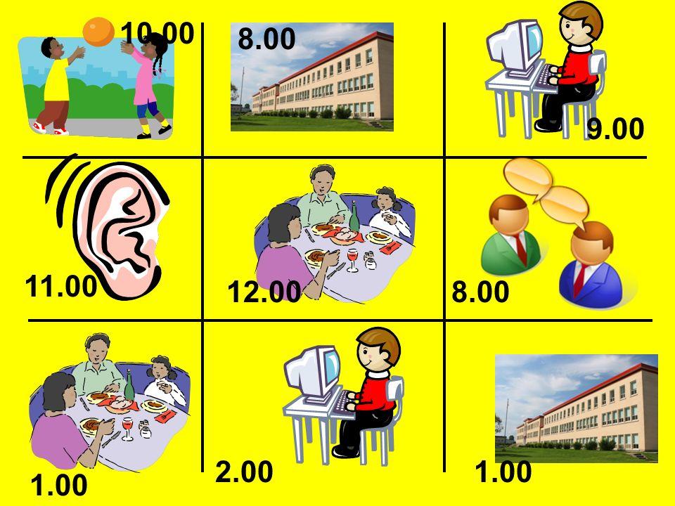 10.00 8.00 9.00 11.00 12.00 8.00 2.00 1.00 1.00