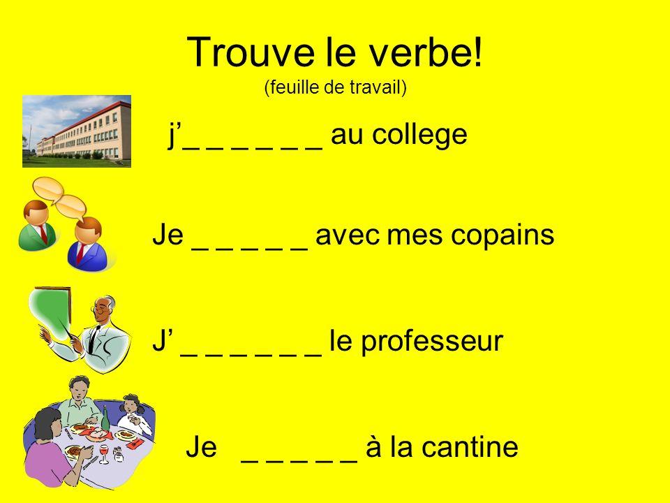 Trouve le verbe! (feuille de travail)