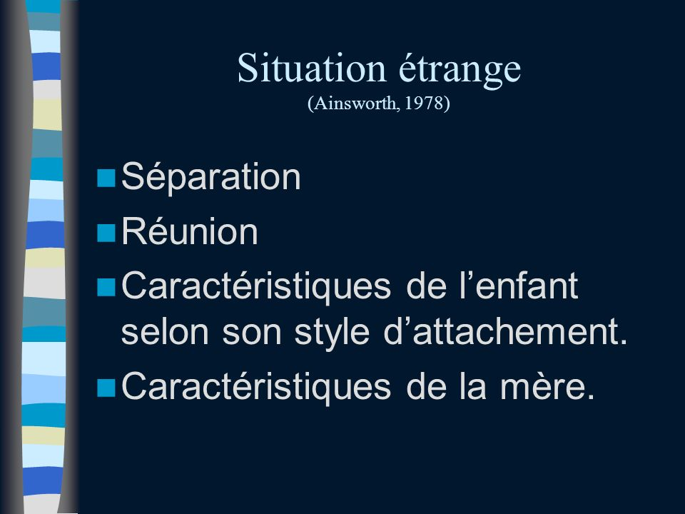 Situation étrange (Ainsworth, 1978)