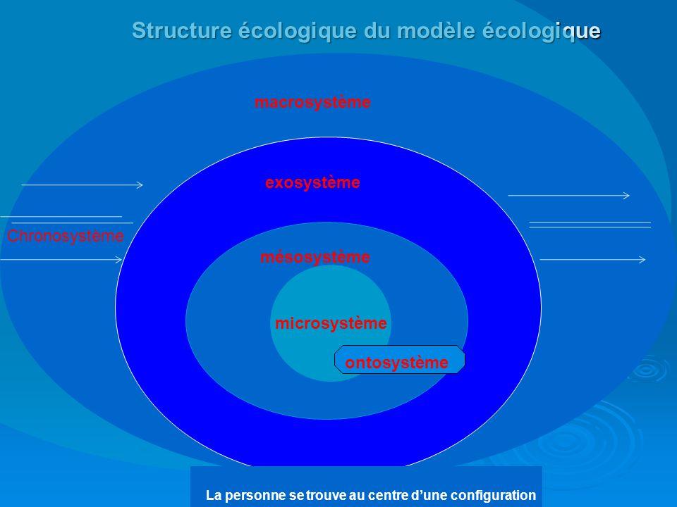 Structure écologique du modèle écologique