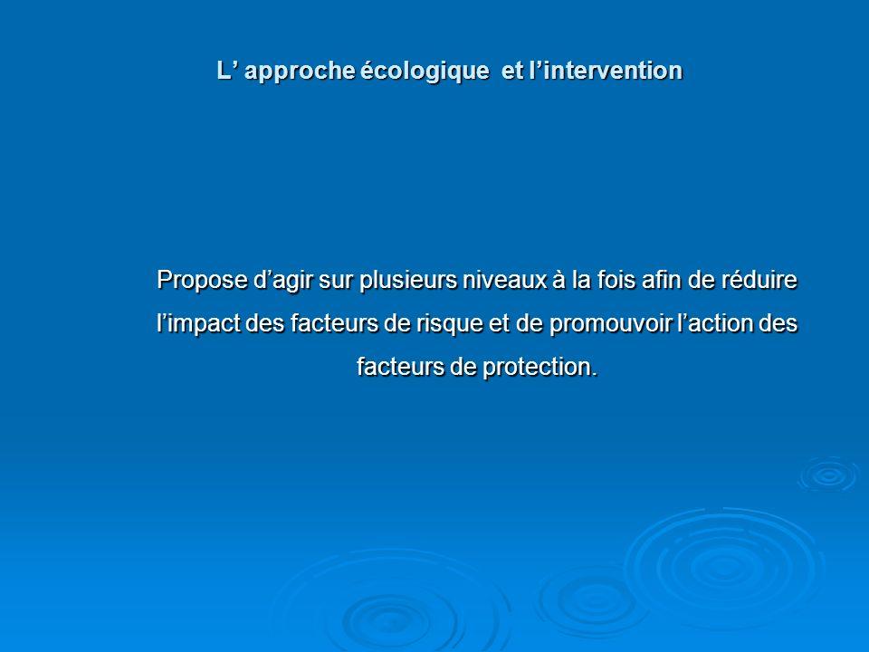 L' approche écologique et l'intervention