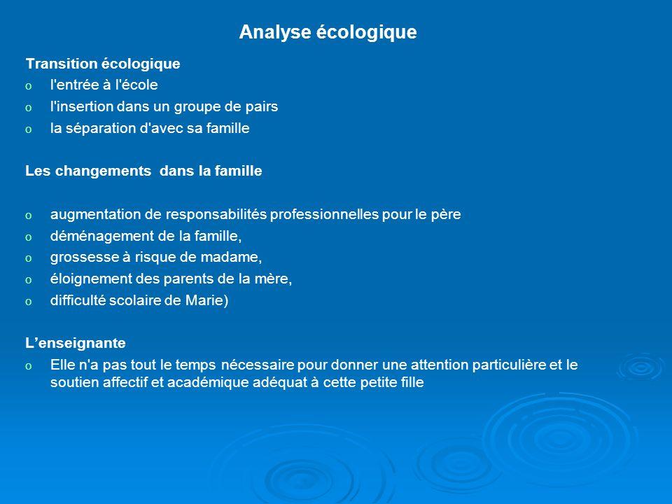 Analyse écologique Transition écologique l entrée à l école