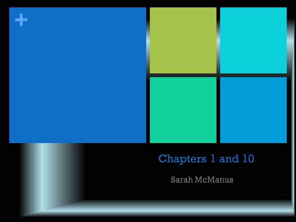 Chapters 1 and 10 Sarah McManus