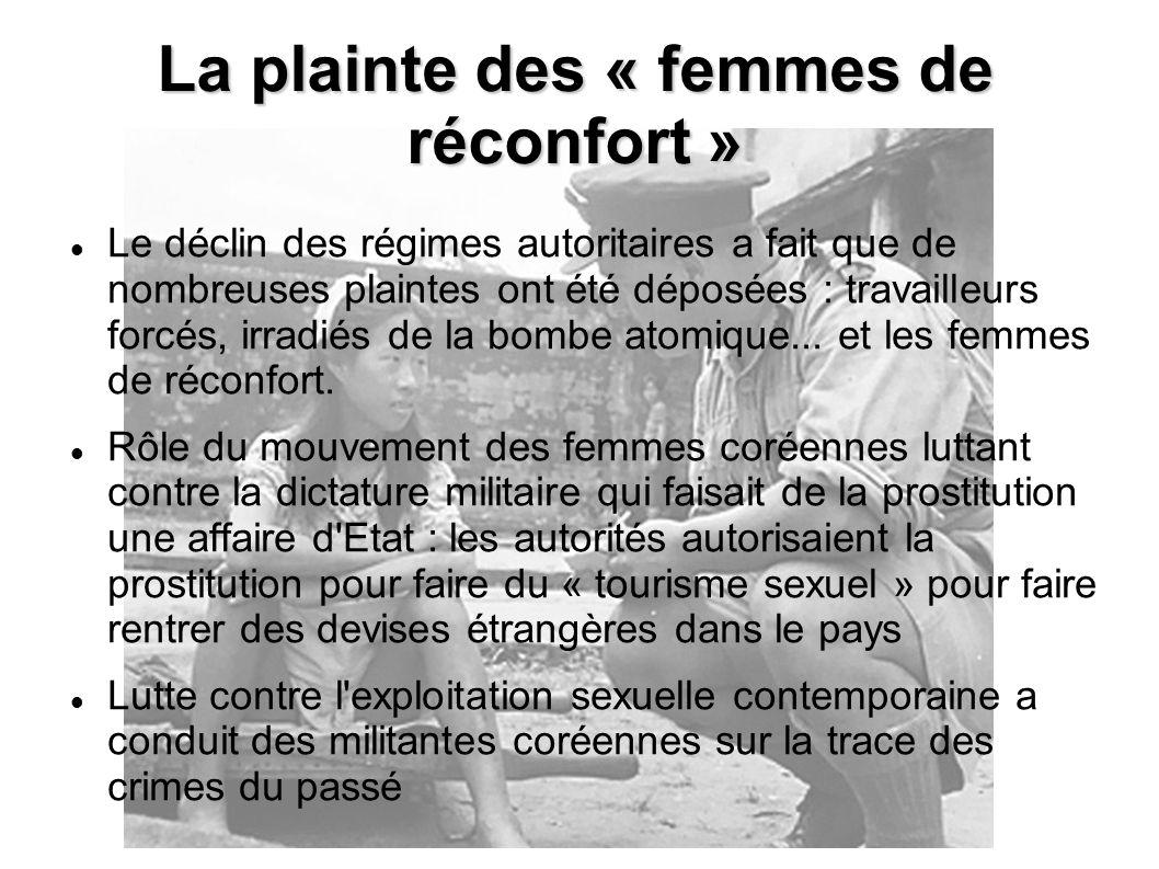 La plainte des « femmes de réconfort »