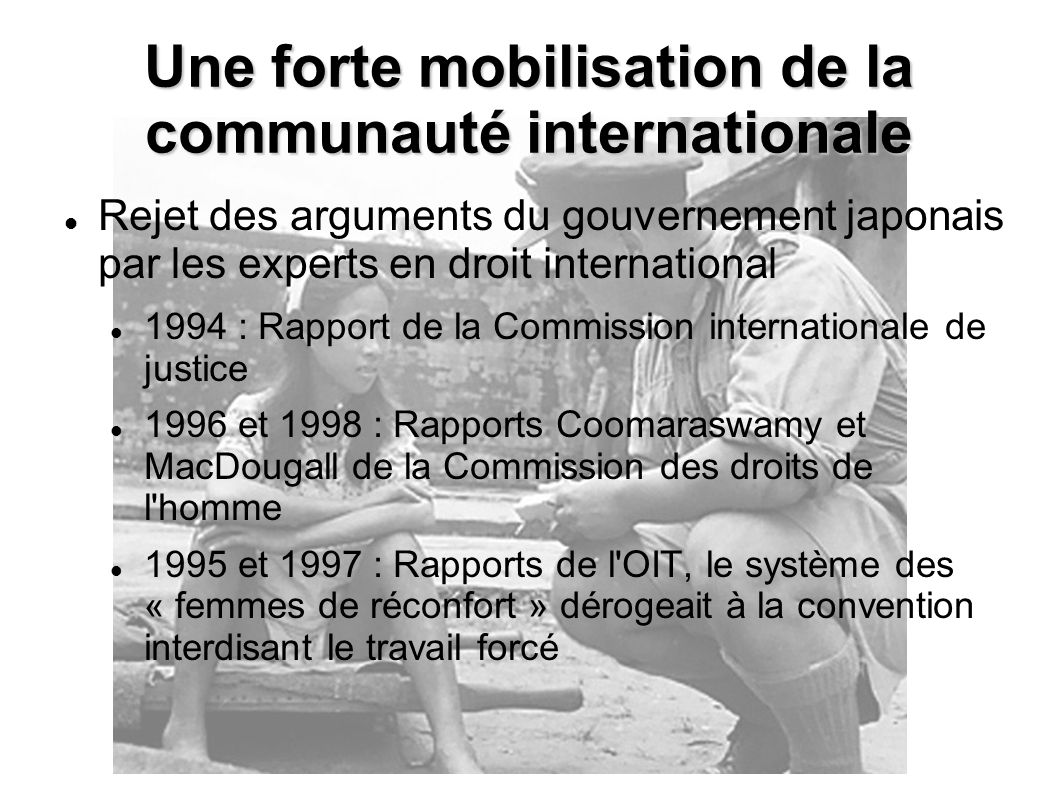 Une forte mobilisation de la communauté internationale