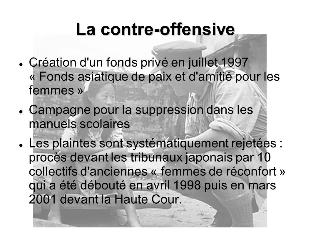 La contre-offensive Création d un fonds privé en juillet 1997 « Fonds asiatique de paix et d amitié pour les femmes »