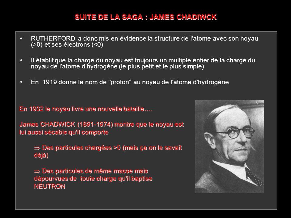 SUITE DE LA SAGA : JAMES CHADIWCK