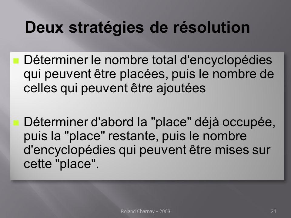 Deux stratégies de résolution