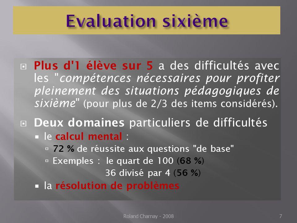 Evaluation sixième