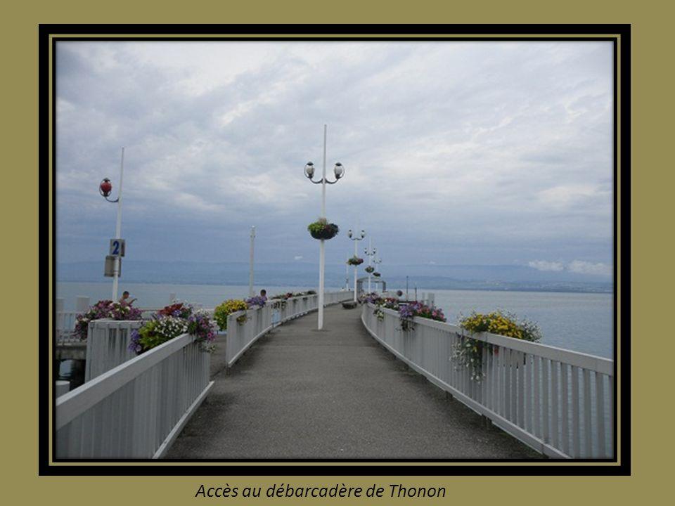 Accès au débarcadère de Thonon