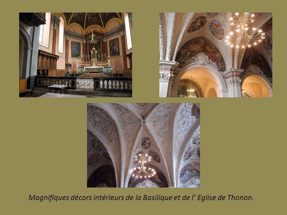 Magnifiques décors intérieurs de la Basilique et de l' Eglise de Thonon.