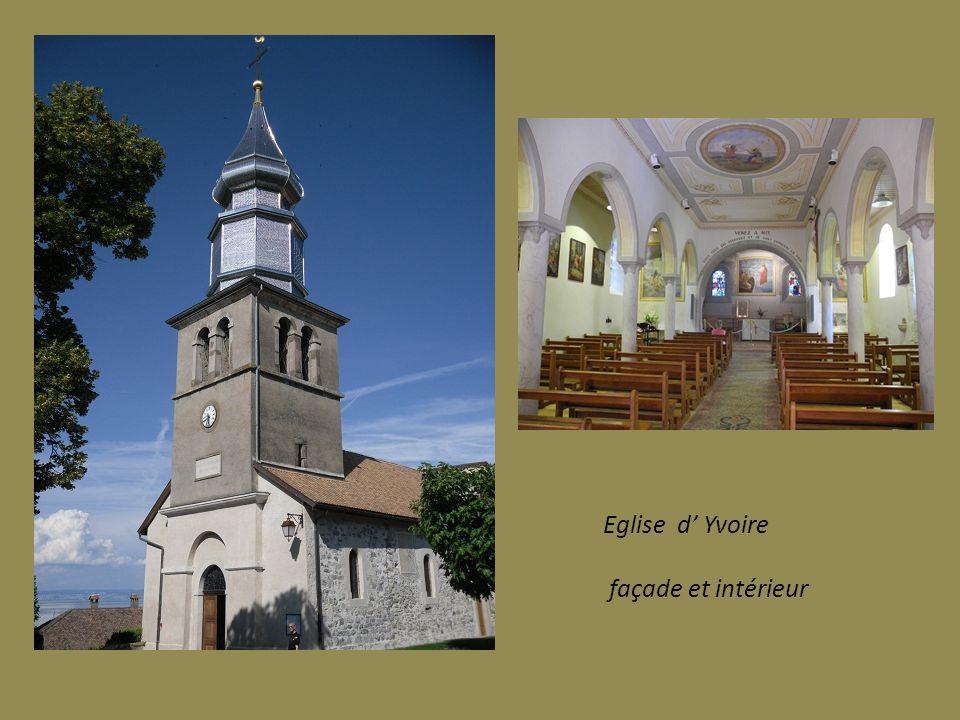Eglise d' Yvoire façade et intérieur