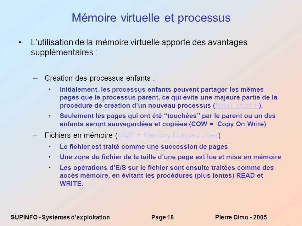 Mémoire virtuelle et processus