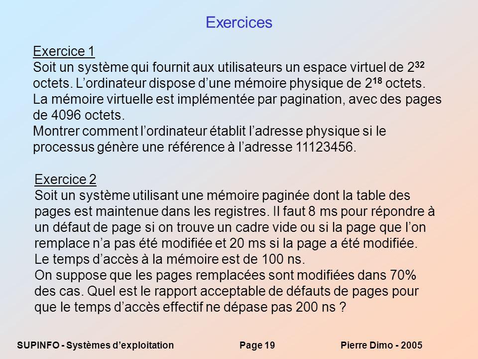 Exercices Exercice 1.