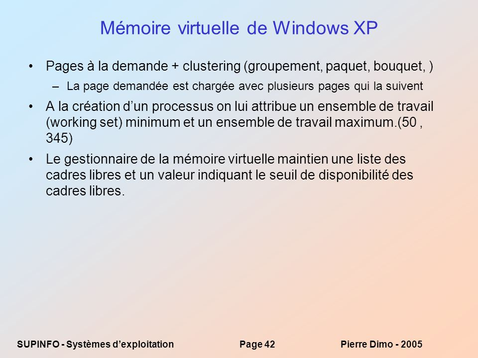 Mémoire virtuelle de Windows XP