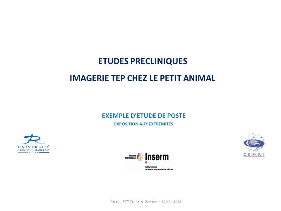ETUDES PRECLINIQUES IMAGERIE TEP CHEZ LE PETIT ANIMAL