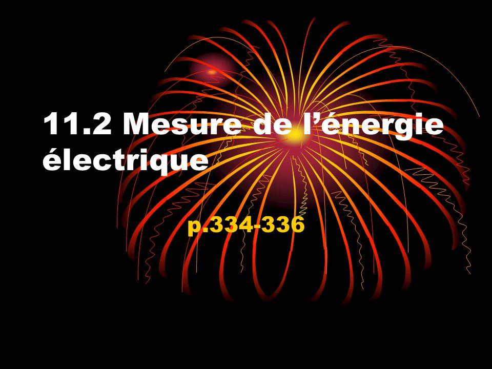 11.2 Mesure de l'énergie électrique