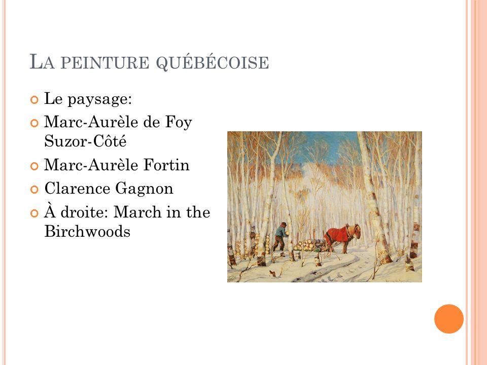 La peinture québécoise