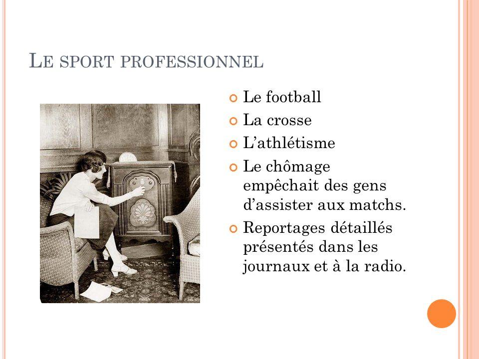 Le sport professionnel