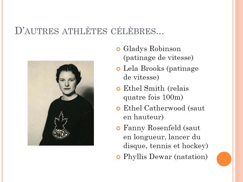 D'autres athlètes célèbres...