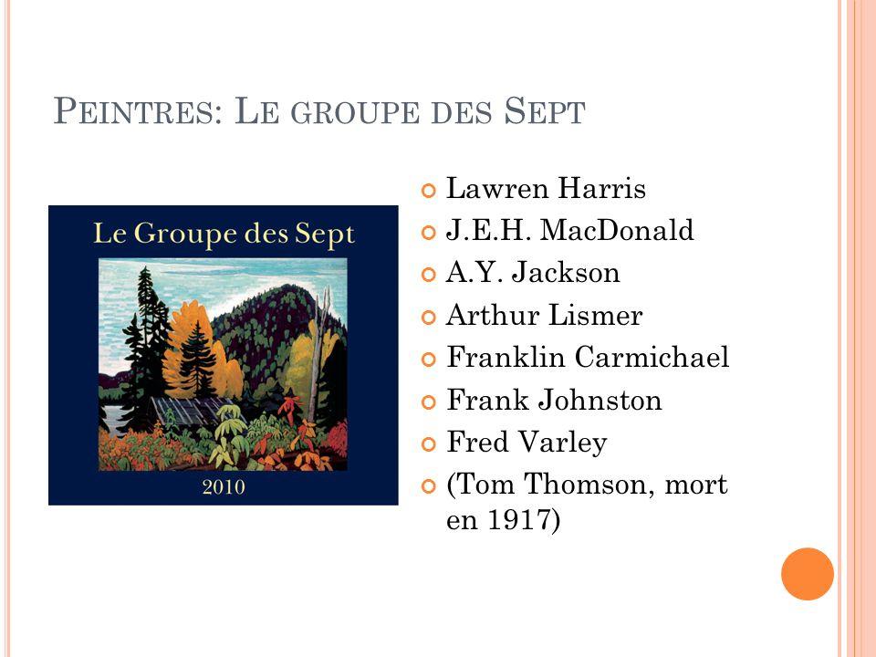 Peintres: Le groupe des Sept