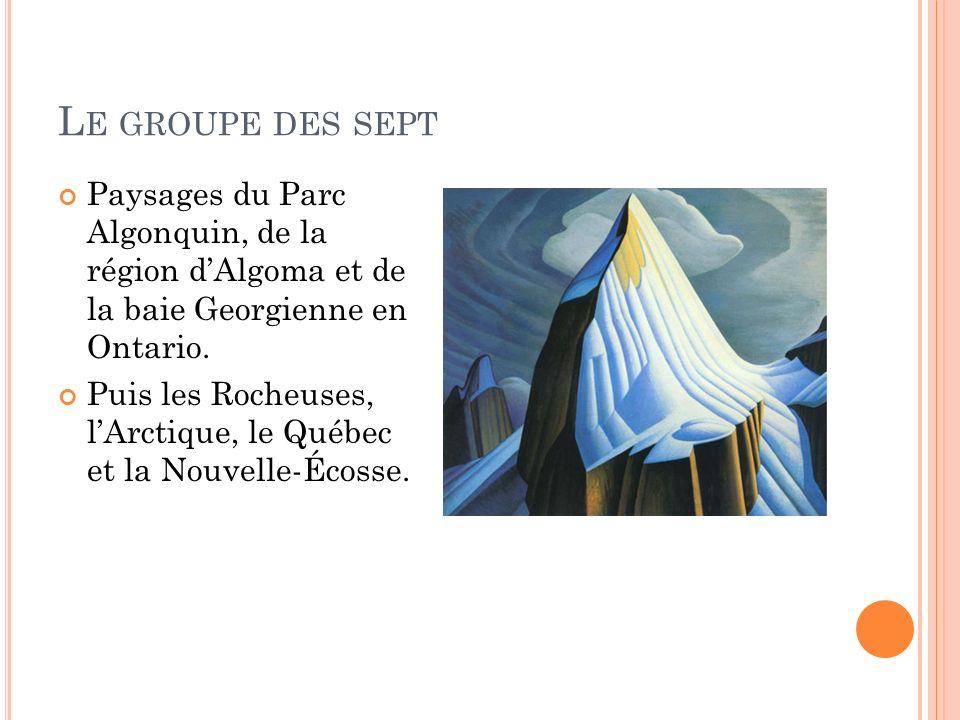 Le groupe des sept Paysages du Parc Algonquin, de la région d'Algoma et de la baie Georgienne en Ontario.