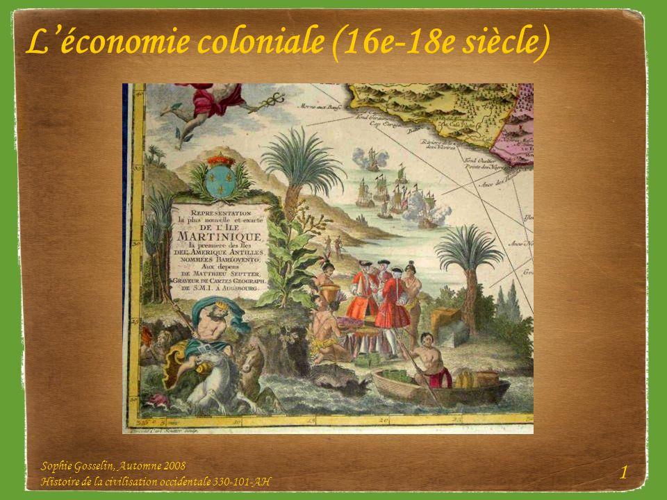 L'économie coloniale (16e-18e siècle)