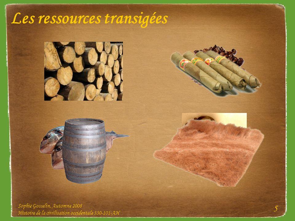 Les ressources transigées