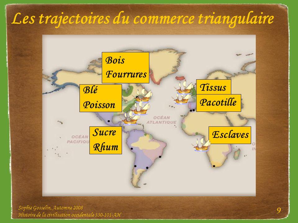 Les trajectoires du commerce triangulaire