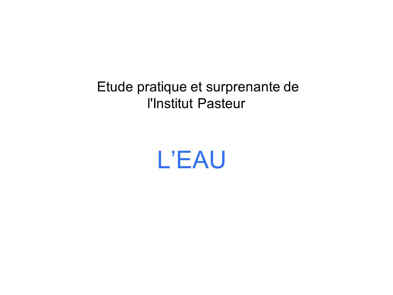 Etude pratique et surprenante de l Institut Pasteur