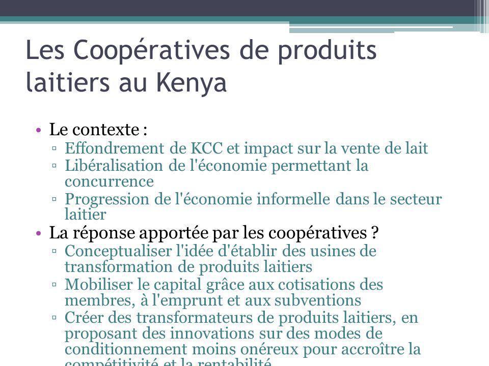 Les Coopératives de produits laitiers au Kenya