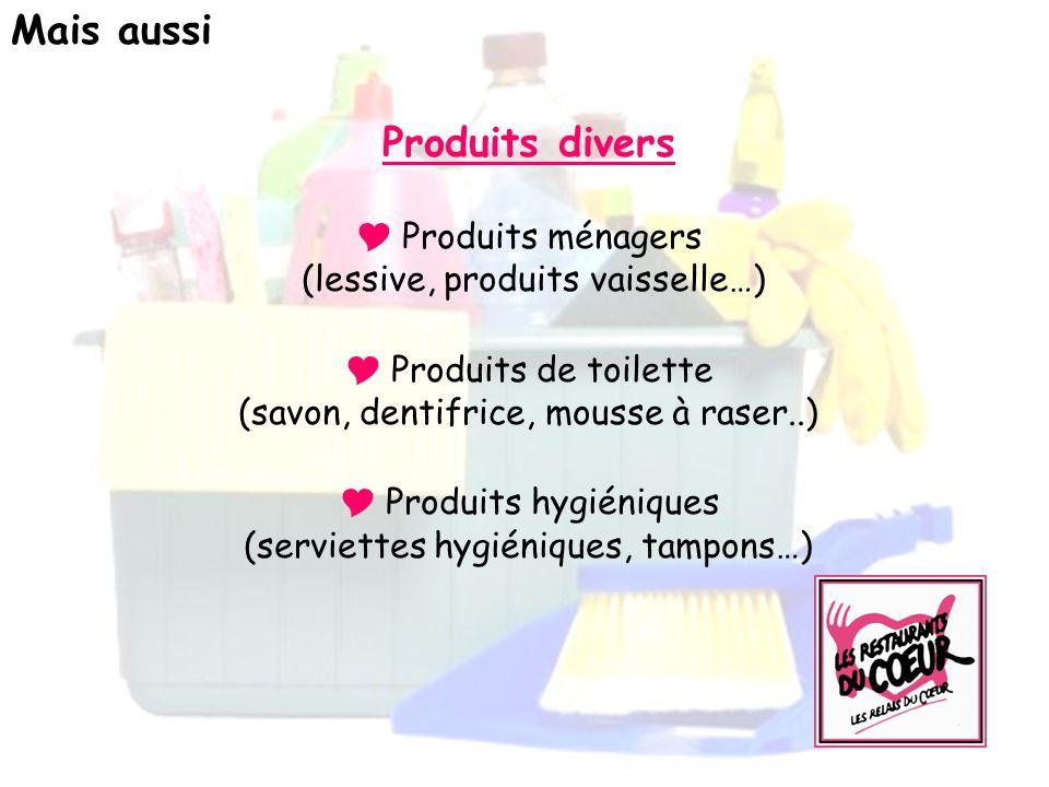  Produits hygiéniques