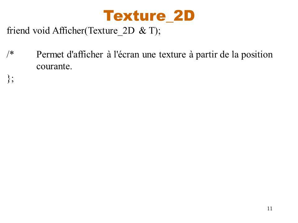 Texture_2D friend void Afficher(Texture_2D & T);